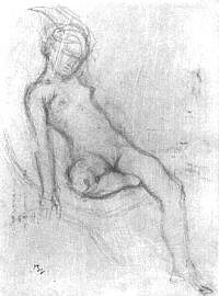 Balthus drawing young girl adolescent